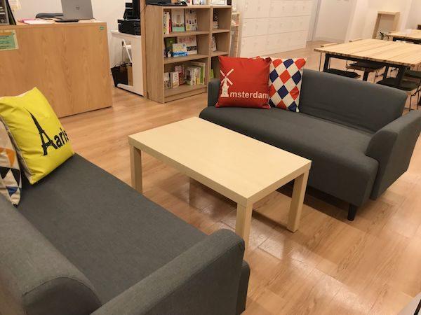 写真:休憩スペース